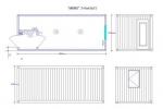 Блок-контейнер /БИЗНЕС/ 2.45х6.0х2.5 м. с тамбуром