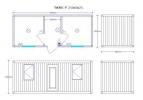 Блок-контейнер /БИЗНЕС/ 2.45х6.0х2.5 м. распашонка