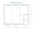 Аренда модульного здания из 3-х БК (7.35х6.0м.)