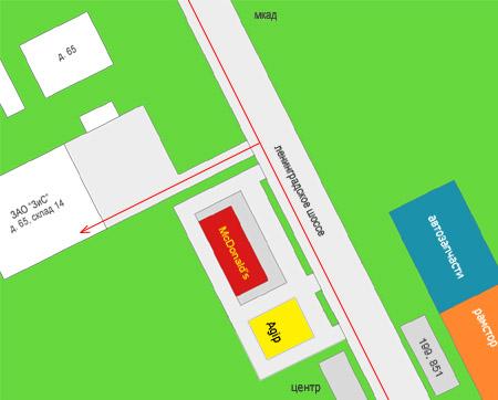 Схема проезда в ЗАО 'ЗиС'